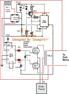 Grid Tie Inverter Circuit Diagram 13 Terminal Meter Socket Wiring Homemade 100va To 1000va Home Solar