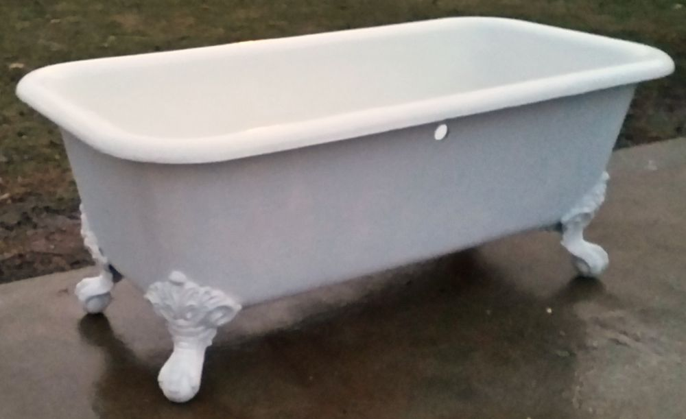 Early 1900\'s Antique Original Porcelain Square Cast Iron Claw Tub ...