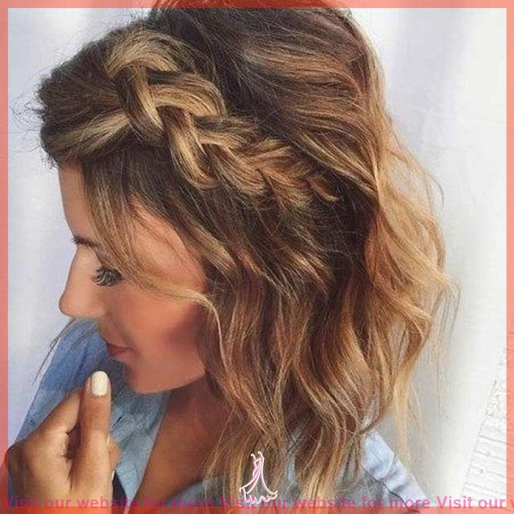 Wedding Hairstyles For Short Hair Round Face In 2020 Medium Length Hair Styles Medium Hair Styles Braids For Short Hair