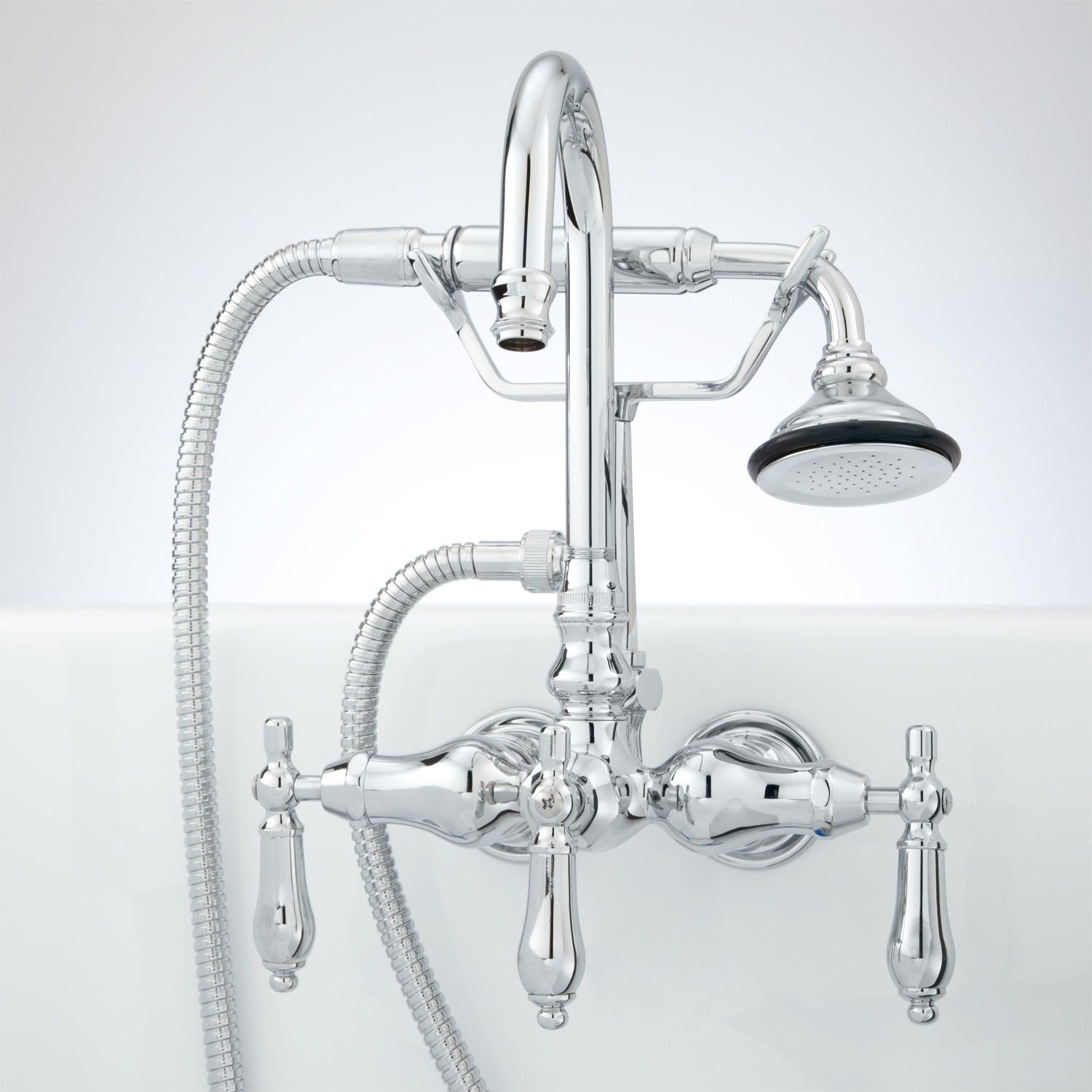 Pasaia Tub Wall Mount Faucet With Variable Centers And Hand Shower