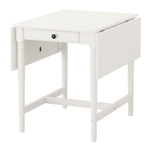 Ingatorp Drop Leaf Table White Specifically Furniture