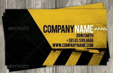 Construction business card template graphics pinterest construction business card template wajeb
