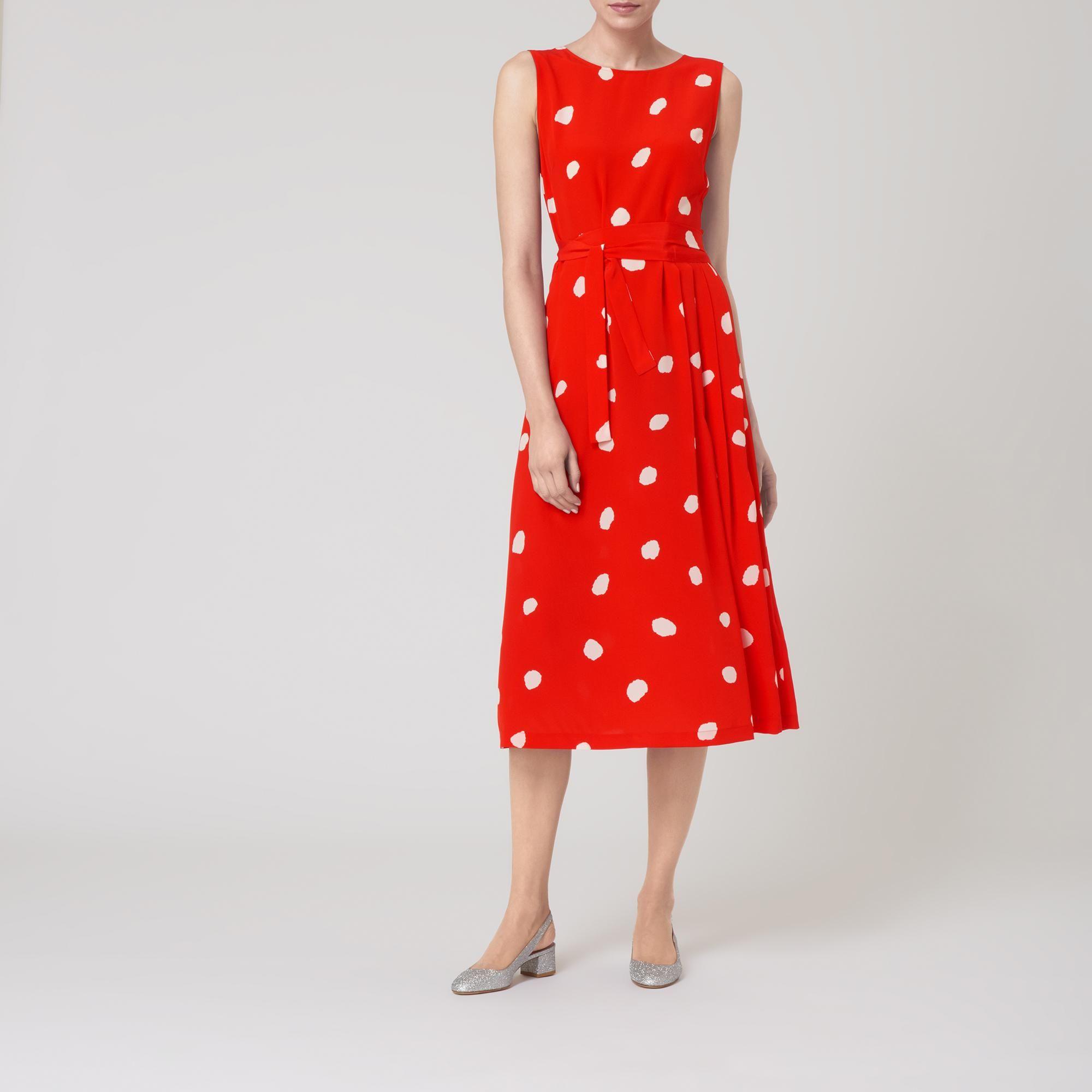 1f55fa09fb Penny Red Silk Dress