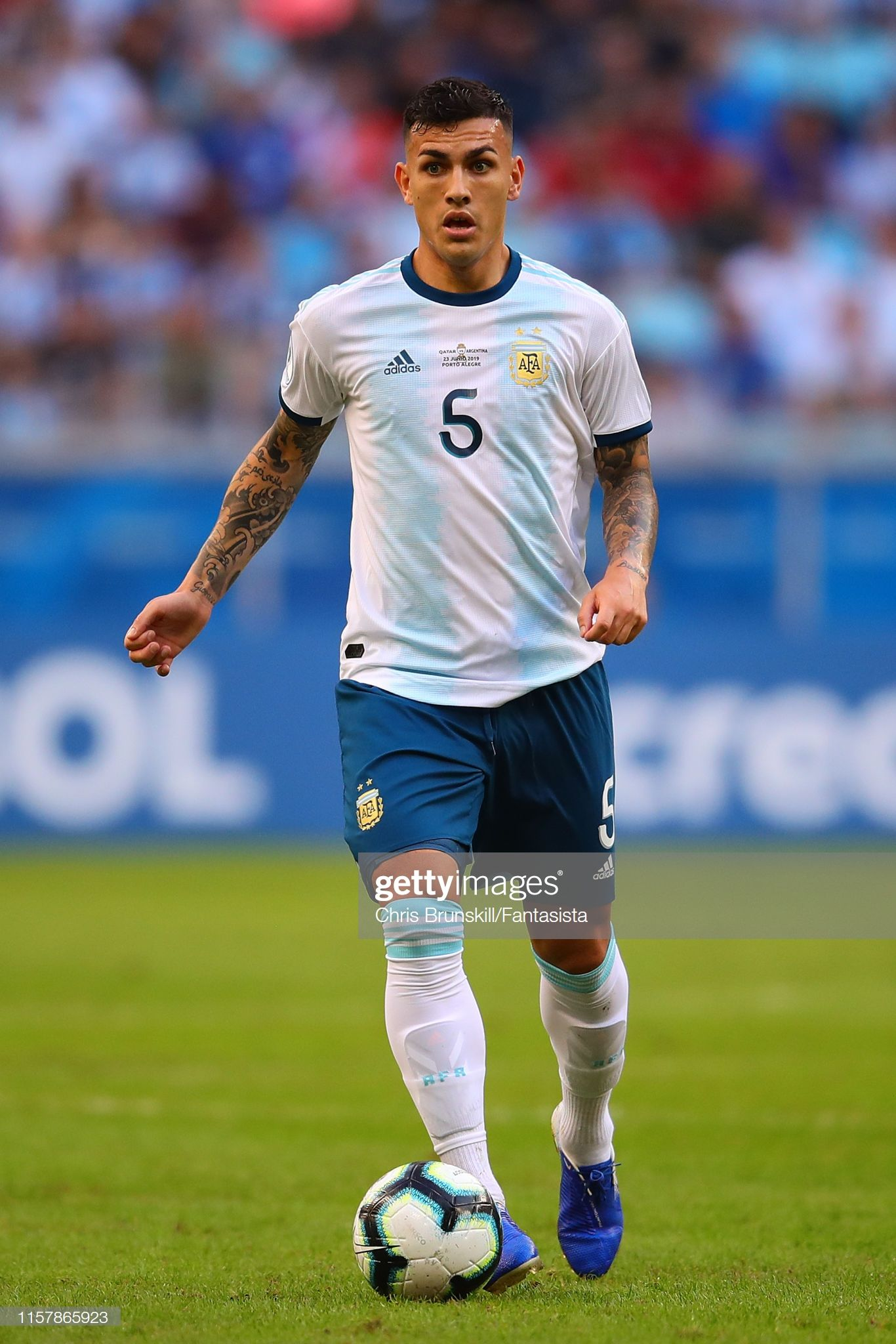 leandro paredes of argentina in action during the copa america brazil soccer world cup 2018 argentina soccer world
