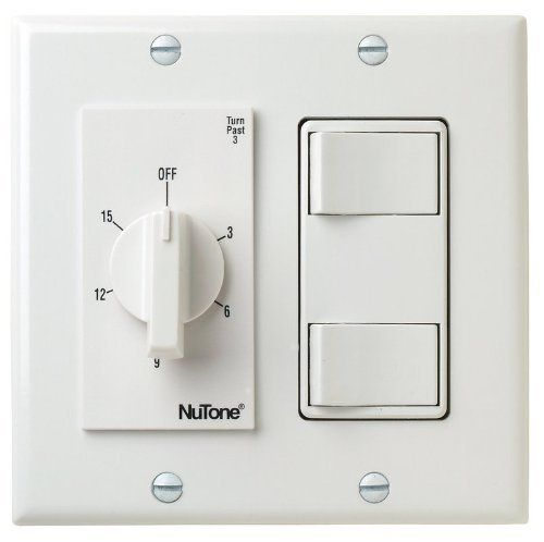 Nutone Vs69wh 15 Min Timer 2 On Off Switches White Bath Fan Control By Nutone 58 78 Nutone Vs69wh 15 Minute Timer 2 On Off Switch White Timer Selection M