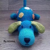 Crochet dog with dots pattern - via @Craftsy