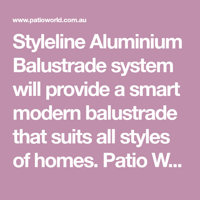 Aluminium Barade For All Style Of