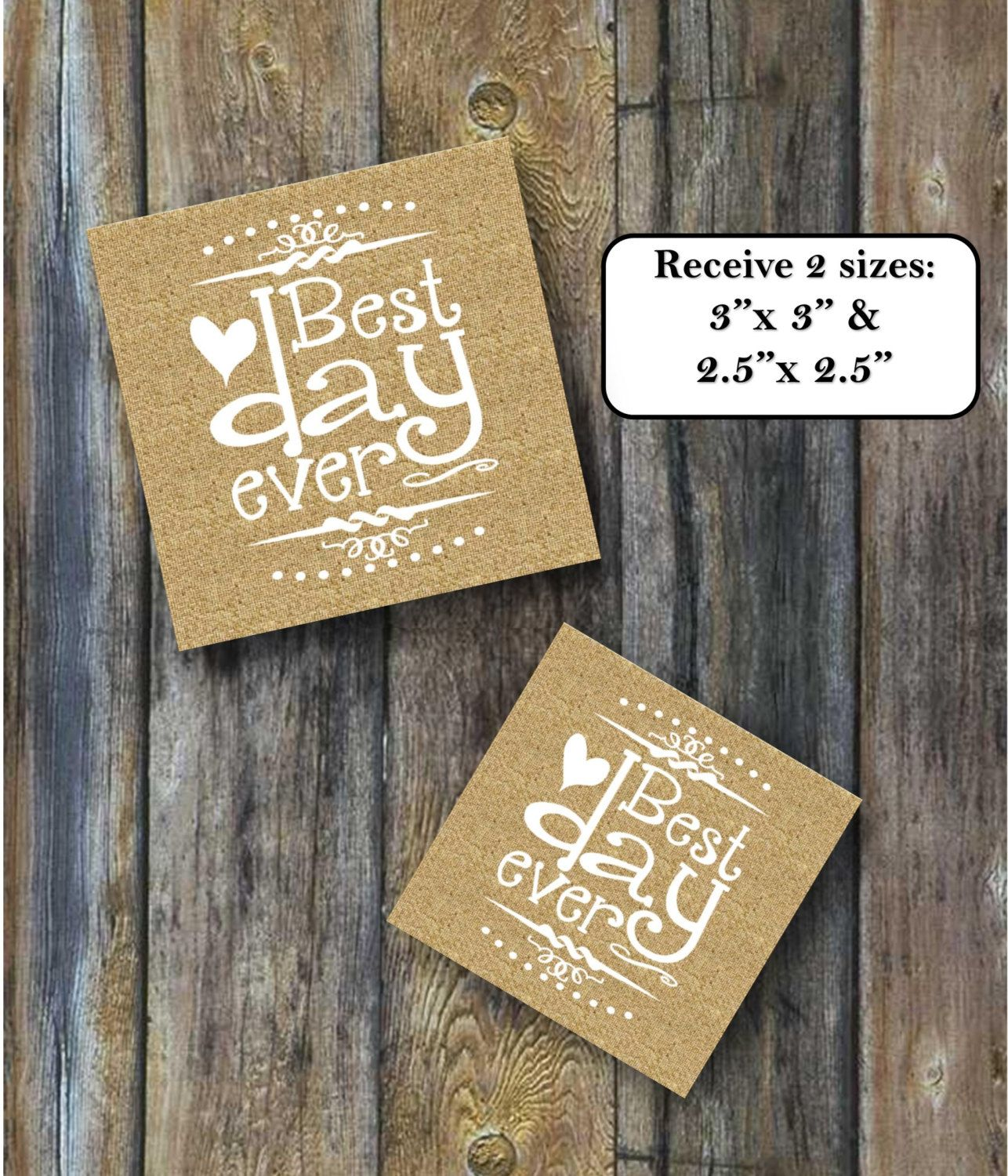 Best Day Ever favor tag 3x 3 and 2.5x2.5 Instant download