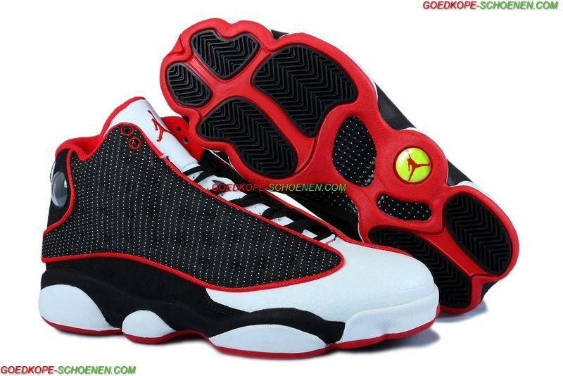 Hete Verkoop Air Jordan 13 Retro Dames Schoenen-Zwart/Wit/Rood Online
