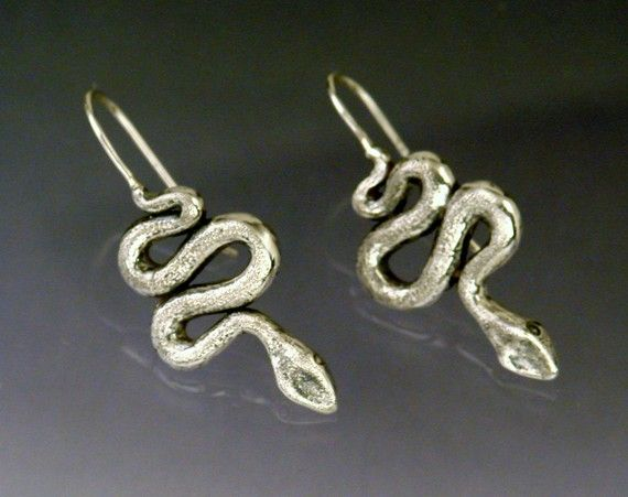 Hanging Snake Earrings by SheppardHillDesigns on Etsy, $38.00