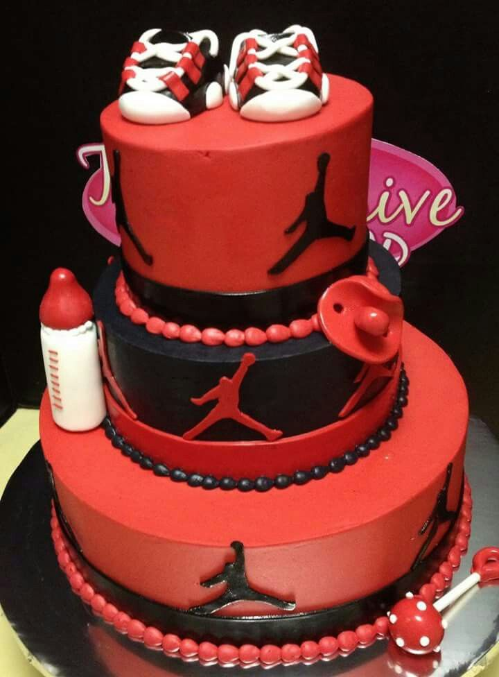 Air Jordan Baby Shower Cake Cakes Cookies Amp Cup Cakes