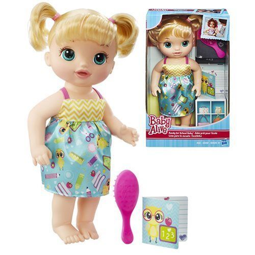 Baby Alive Ready For School Blonde Doll By Hasbro Baby Alive Baby Alive Doll Clothes Baby Alive Dolls