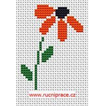Red flower, free cross stitch, pattern