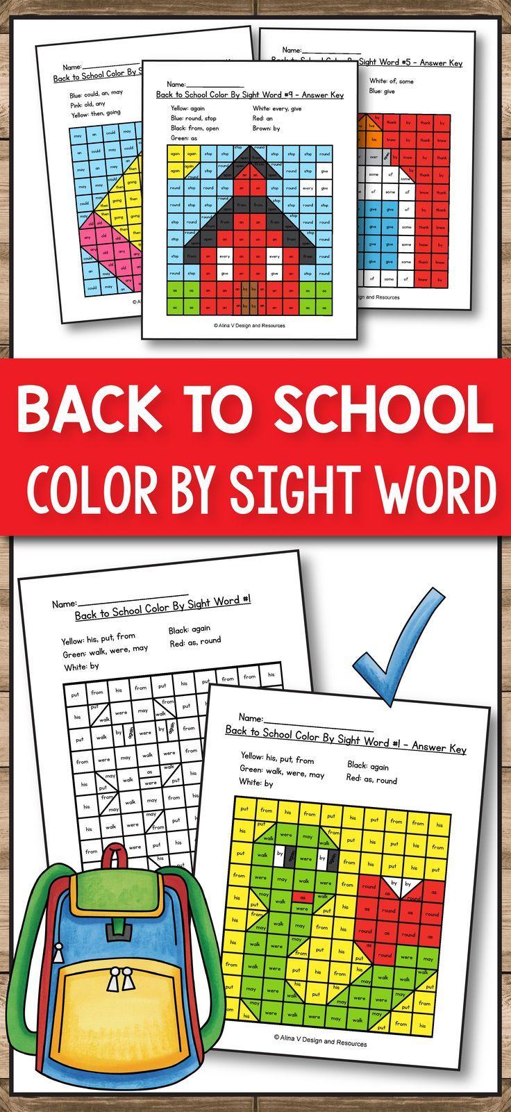 Back to School Activities for Kindergarten Back to School Math