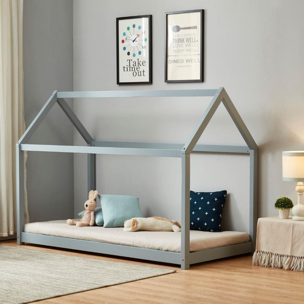 House Grey Wooden Bed Frame 3ft Single White Wooden Bed Grey Wooden Bed Frame Luxury Bed Frames