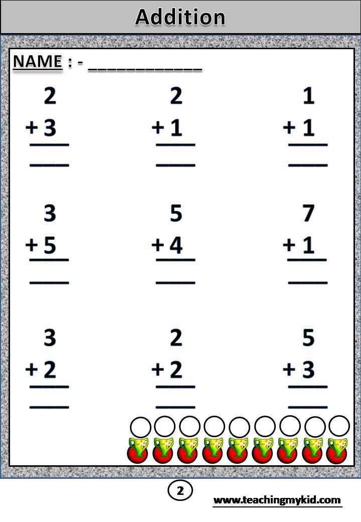 Common Core Maths Addition Printable Worksheet Without ...