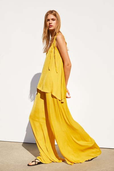 44992ece33 ZARA - Female - Wide flowy pants - Yellow - S in 2019 | Products ...