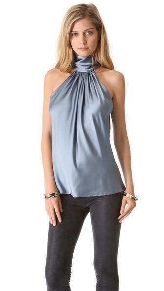 93e006afab05ec Amazing Silky soft Satin Neck Halter Blouse, Satin Blouse, women's top
