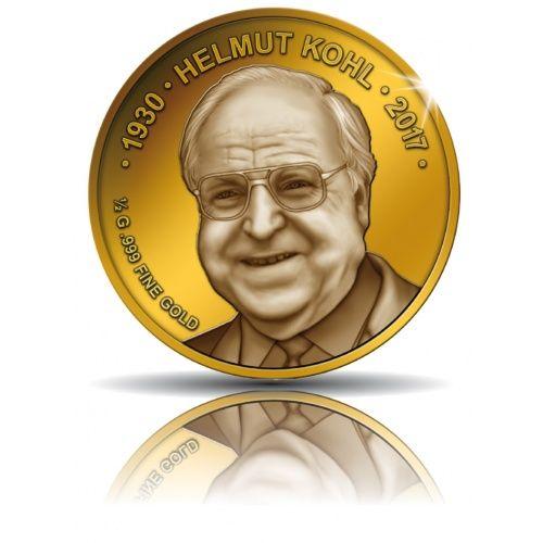 Helmut Kohl, 100 Franc Goldmünze 2017, polierte Platte