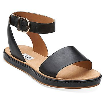 Women's | Clarks Romantic Moon - Black Leather - FREE SHIPPING at Shoes.com