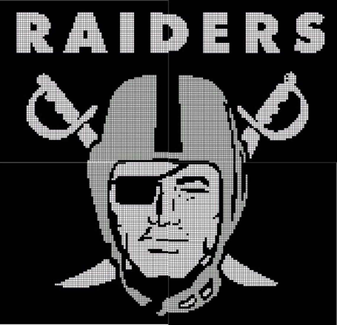 Oakland raiders crochet pattern afghan graph 35 books worth oakland raiders crochet pattern afghan graph 35 bankloansurffo Image collections