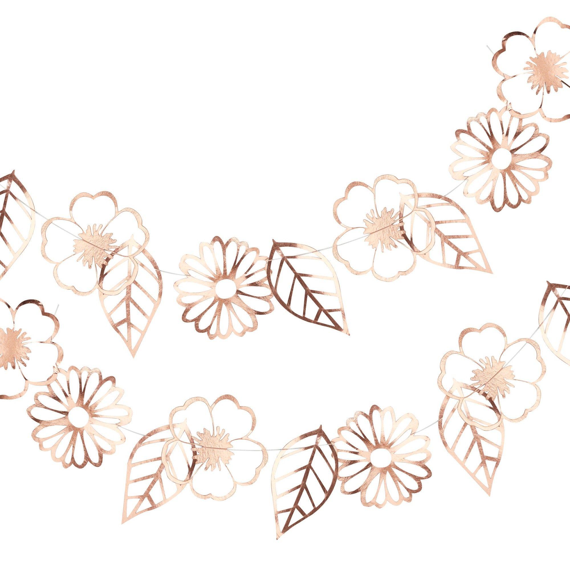 Ditsy Floral Rose Gold Foiled Flower Garland