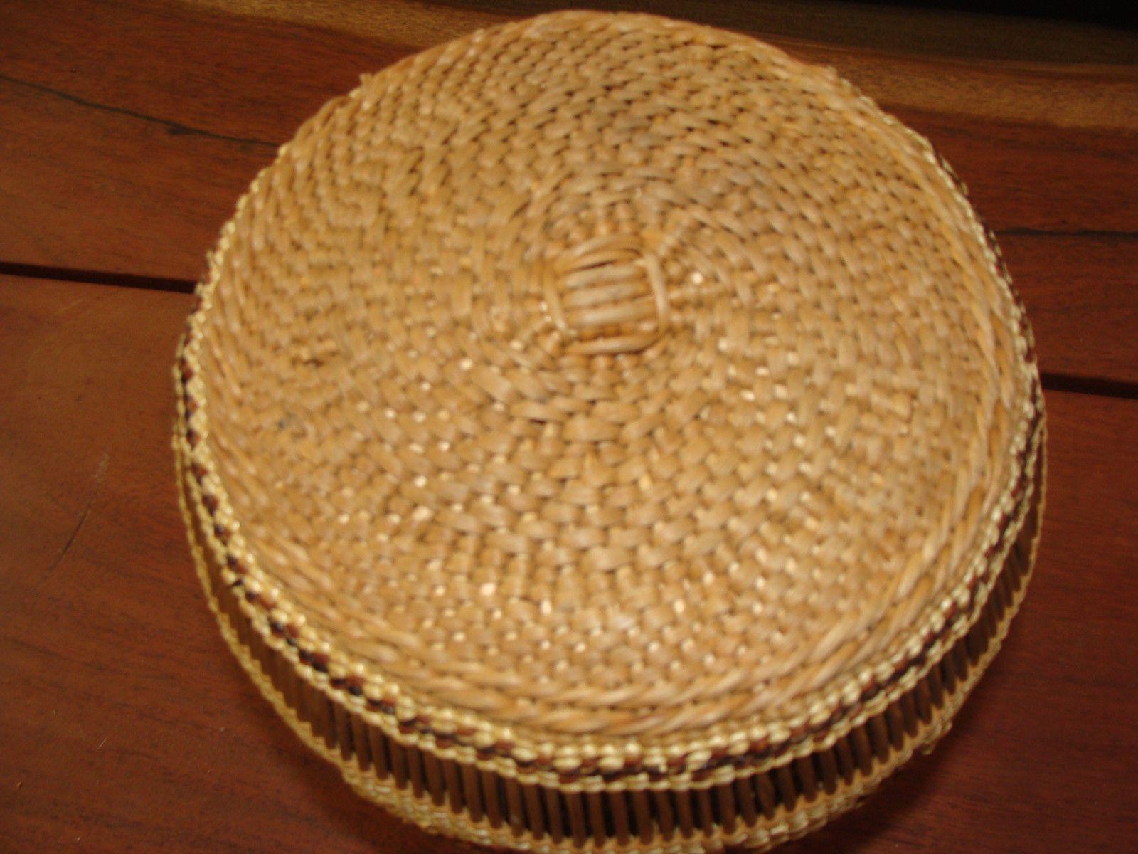 Very Good HUPA Open Work Display Basket Well Made VG Condition Expert Weaver | eBay