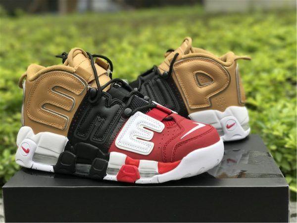 """2018 Supreme x Nike Air More Uptempo """"Tri-Color"""" For Sale"""