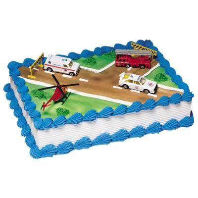Publix Emergency Vehicles Cake Fireman Birthday Ideas