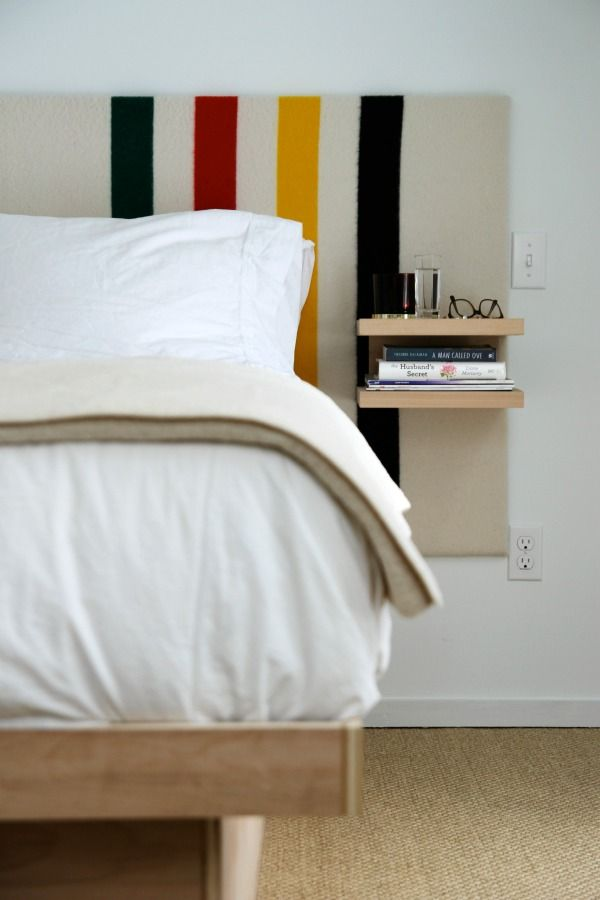 Space Saving Headboard Floating Shelves Attached To An Extra Wide Headboard Arts Crafts