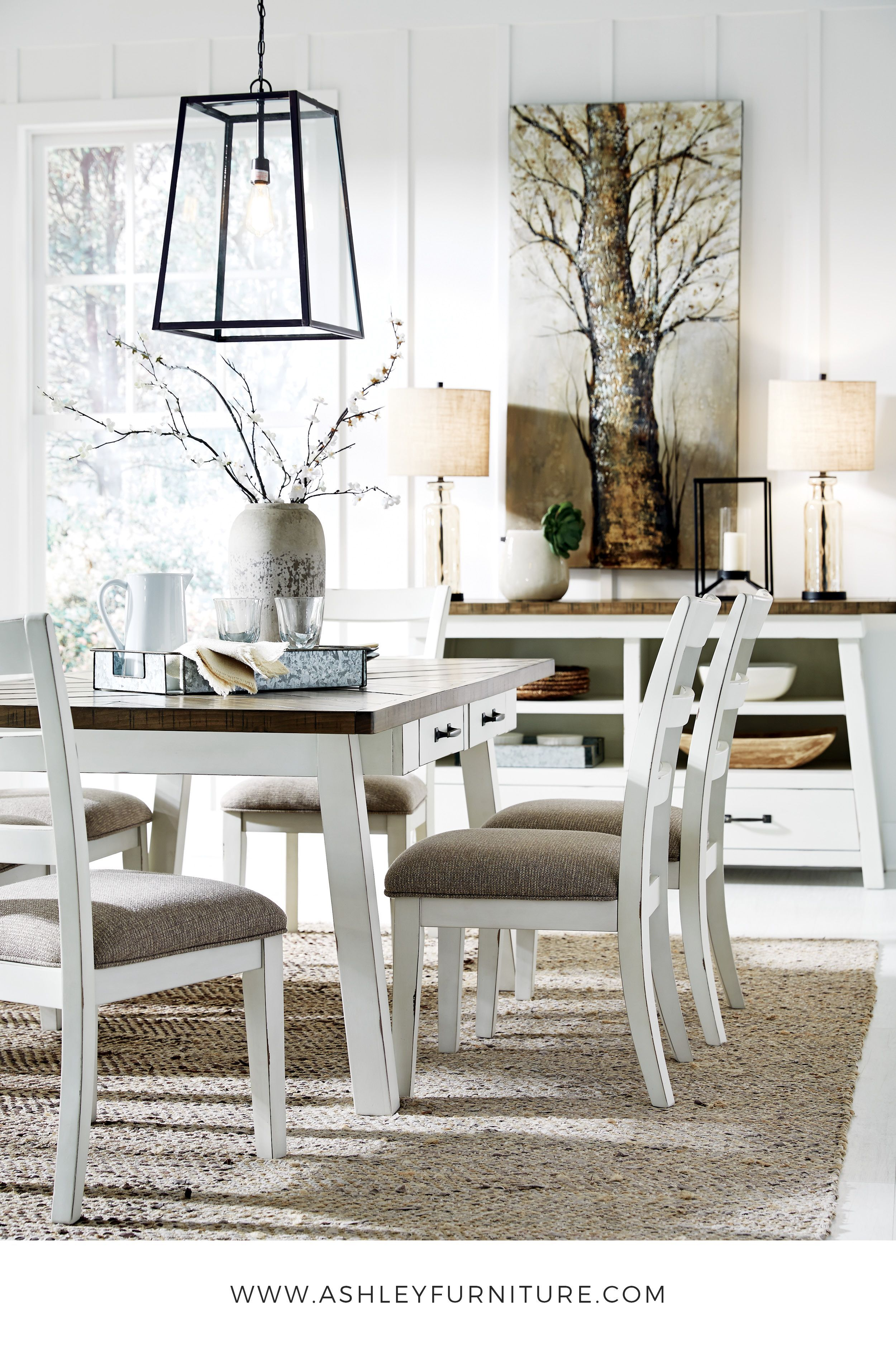 Ashley Furniture Dinning Set Indulge In Modern Farmhouse Style At