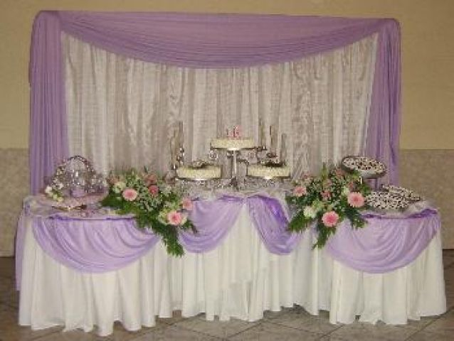 mesas de casamento decoradas com tnt 8 decoraç u00e3o de festas Decoraç u00e3o festa, Panos de fundo e  -> Decoracao De Tnt Casamento