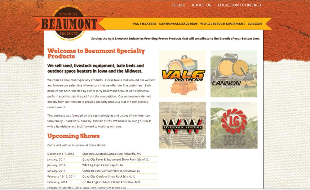 Beaumont Specialty Products Beaumont, Website design