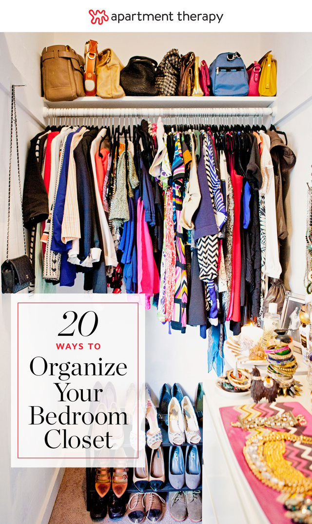 20 Smart Ways To Organize Your Bedroom Closet (Apartment Therapy Main)