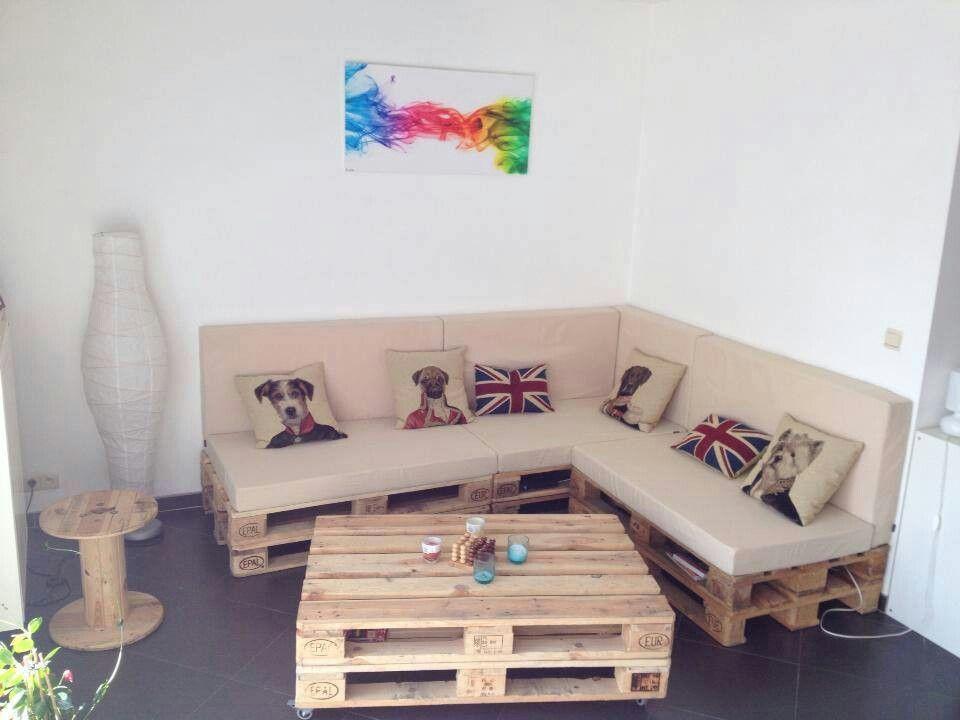 Sofa Y Mesa De Palets Muebles Hechos Con Tarimas Muebles Con Estibas Sala En Estibas