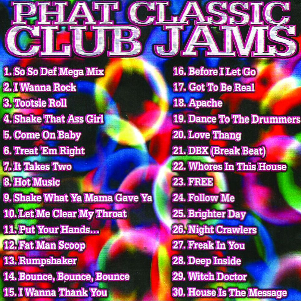 Phat Club Jams Party Mix MP3 Download for $3.00 #onselz