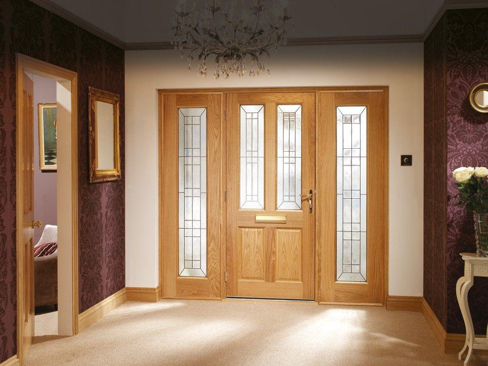 Xl Tgoslb23 External Oak Dowelled Triple Glazed Bevelled Side