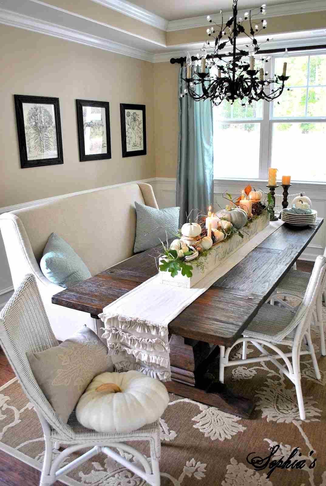 Elegant Dining Room With Neutral Fabrics And Dark Wood Description From Pinterest Com I Searched For This On Cozy Home Decor