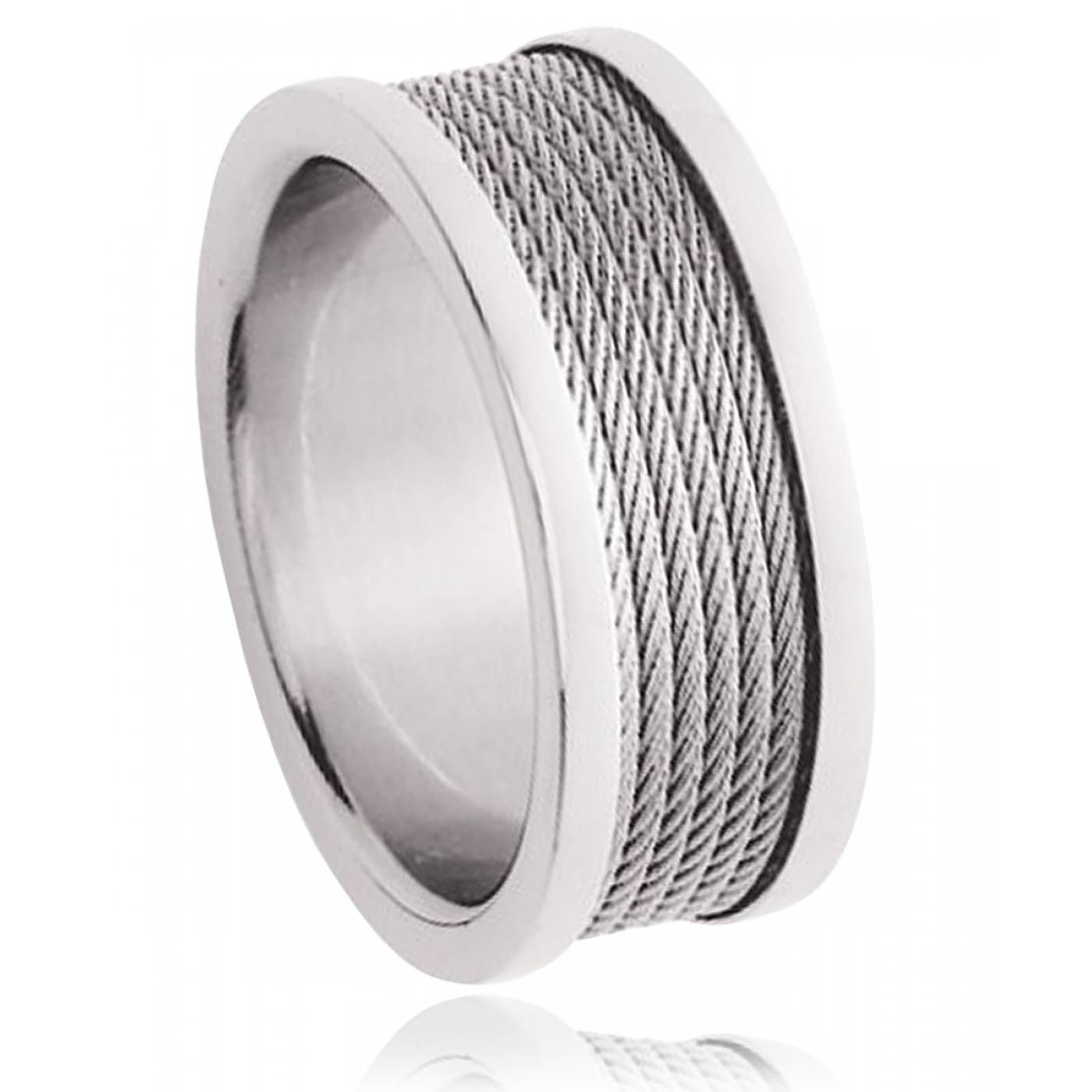 Men stainless steel Electica rings - Murat Paris