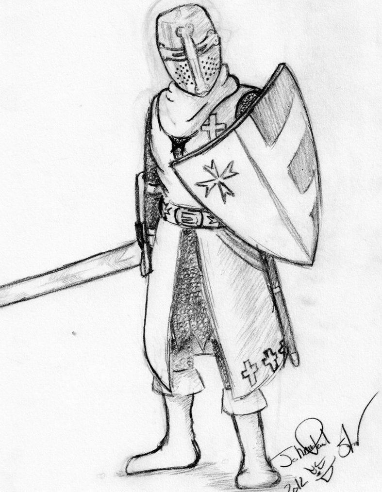 feudalism knight drawing unknown original source warriors