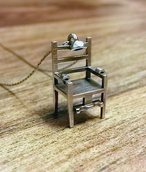 Electric Chair Necklace Etsy Electric Chair Sterling Sterling Silver