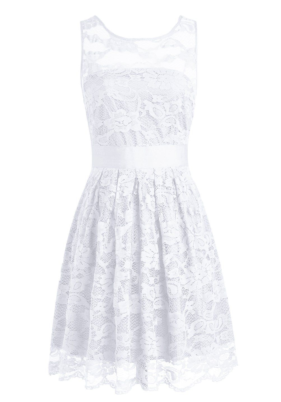 Wedtrend womenus floral lace dress bridesmaids dress short prom