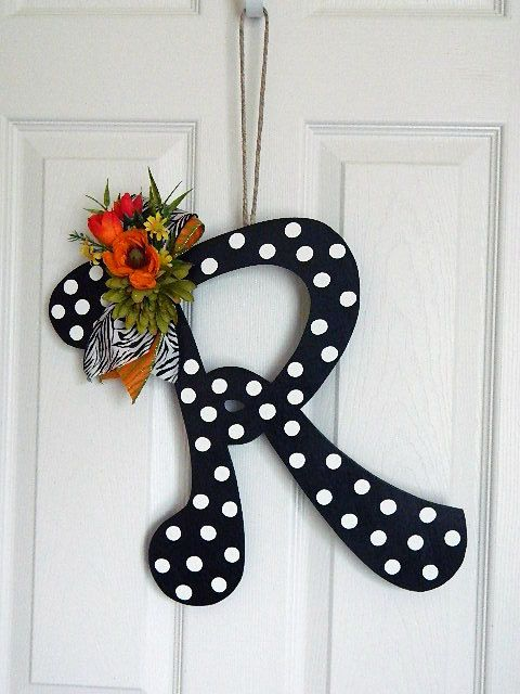 Wooden Letters For Door Decorations   Wall Letters   Monograms.