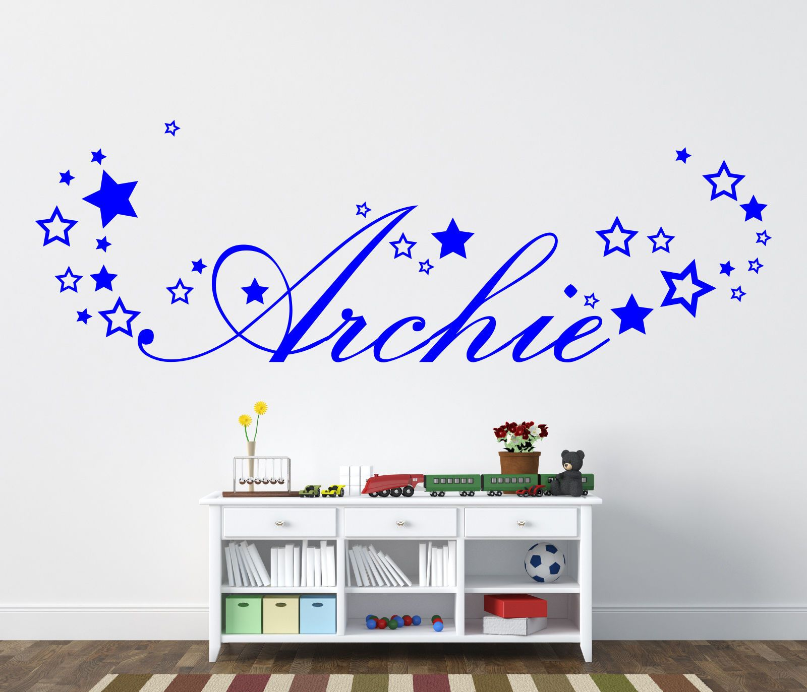 Personalised boys name sticker with stars for bedroom wall view personalised boys name sticker with stars for bedroom wall view more on amipublicfo Choice Image