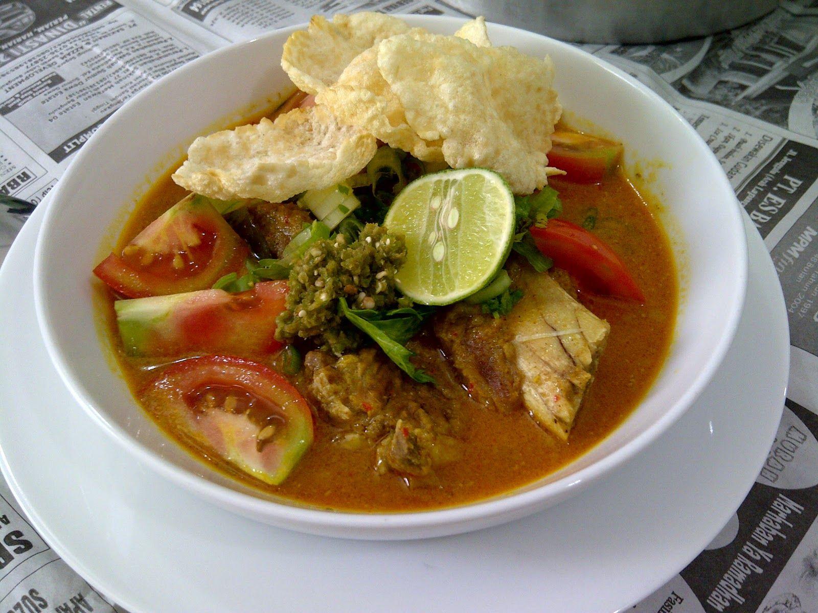 resep masakan soto daging santan sapi betawi asli
