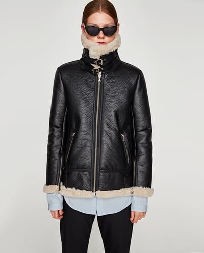 descuento especial de descubre las últimas tendencias pero no vulgar Imagen 2 de CAZADORA AVIADOR de Zara | Compras en 2019 ...
