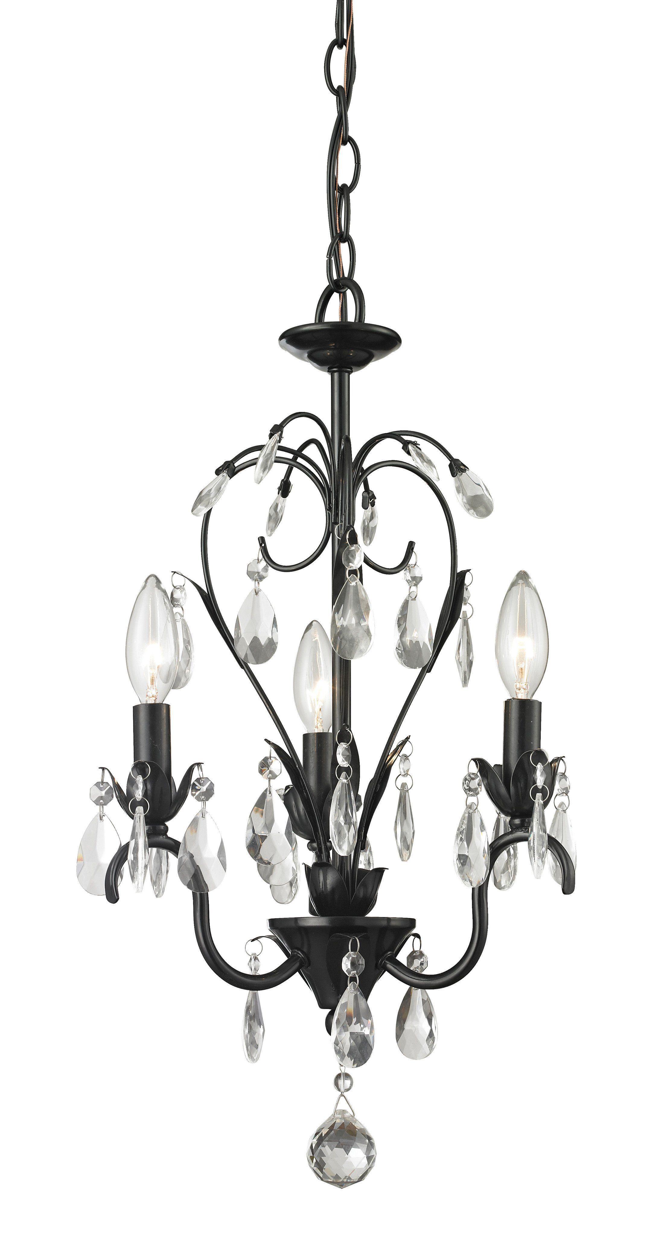 Princess chandeliers gloss black steel light mini chandelier h