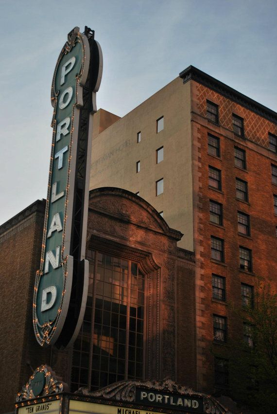 Canvas print  Photo of the Portland sign by LysBleuDesigns on Etsy, $260.00