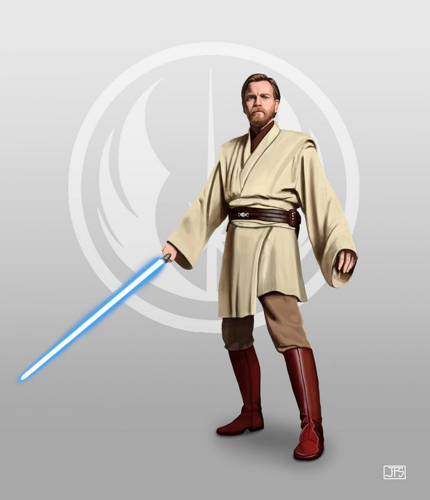 Obi Wan Kenobi Santacrew Art Digital Art Fantasy Mythology Space Fiction Other Space Star Wars Geek Star Wars Characters Pictures Star Wars Clone Wars