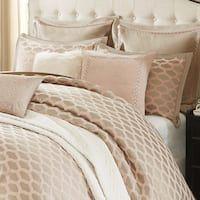 Photo of Five Queens Court Beaumont Champagne Jacquard 4 Piece Luxury Comforter Set